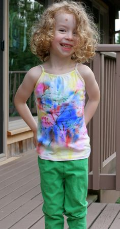 Kid-Designed and made Sharpie Tie-Dye T-Shirt from Fun at Home with Kids