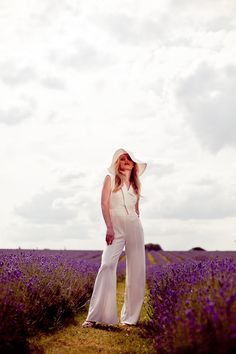 1970s Inspired Lavender Field Bridal Inspiration Shoot