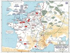 Overlord Plan, Combined Bomber Offensive And German Dispositions, 6 June 1944 D Day Normandy, Normandy France, D Day Ww2, D Day Invasion, United States Military Academy, Strategy Map, Normandy Invasion, Photo Maps, Cards