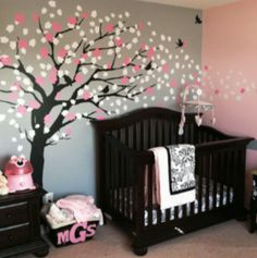 LOVE this idea for a baby girls bedroom !