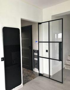 Drzwi Loftowe - Industrialne | Drzwi wewnętrzne - zabudowy szklane - drzwi loft - podłogi Mirror Door, Diy Home Crafts, Divider, Loft, Furniture, Nice, Home Decor, Houses, Decoration Home