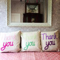 Thank you ! #throw pillow  #cushion #pillow Cheeky Sew & Sew