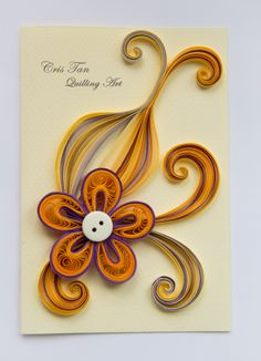 quilling design, flower, card