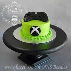 xbox cake XBOX ONE Cake ~ Heathers Sweets Boutique - xboxseries 13 Birthday Cake, Birthday Cakes For Teens, 10th Birthday Parties, Video Game Cakes, Video Game Party, Teen Cakes, Cakes For Boys, Bolo Xbox, Xbox One Cake