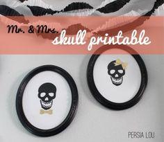 Mr. and Mrs. Skull Cameo – Free Printable!