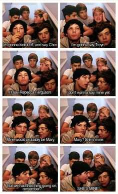 I watched this part probably 50+ times just to look at all of their faces. I looked at Zayns 1 time, Liams the next, then Niall Louis and Harreh. Sooo funnny <3