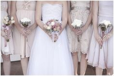@Allie Leigh...a mix of muted pastel dresses for bridesmaids