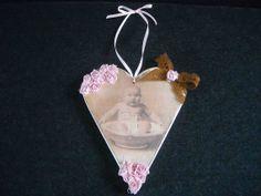 Bespoke new baby wooden heart by HandmadeByFiona on Etsy, $17.00