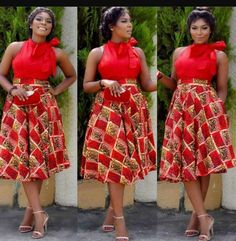 African fashion Ankara Dress In Red style African Dresses For Women, African Print Dresses, African Attire, African Wear, African Fashion Dresses, African Women, African Prints, African Style, Ankara Fashion