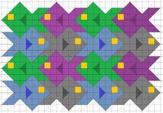 tessellation quilt pattern - Fish