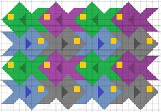 fish quilt pattern | Tessellating school of fish quilt pattern.