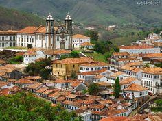 Ouro Preto, Minas Gerais Brazil.  A very quaint, profoundly historic town .