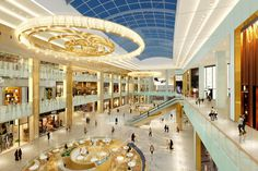Designed by Chapman Taylor, the Mall of Qatar is the largest shopping centre in Qatar & one of the largest retail developments to launch in the world in 2016 Shopping Malls, Shopping Center, Amazing Architecture, Like4like, Mansions, House Styles, Doha, Summer Art, Beautiful