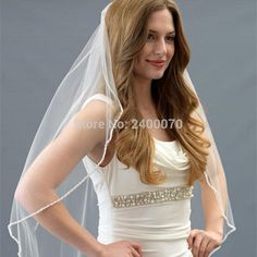 Find More Bridal Veils Information about Timeless One Layer Beaded Edge Short Veil High Quality Bling Tulle Bridal Veil Wedding Veil with Comb Cheap,High Quality wedding birdcage veil,China wedding veils and accessories Suppliers, Cheap wedding veil flowers from CDDRESSES Store on Aliexpress.com