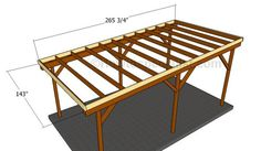 This step by step diy woodworking project is about how to build a flat roof carport. Learn how to make a carport with a flat roof out of wood. Woodworking Projects For Kids, Scrap Wood Projects, Popular Woodworking, Diy Woodworking, Outdoor Projects, Diy Carport, Carport Kits, Carport Plans, Modern Carport