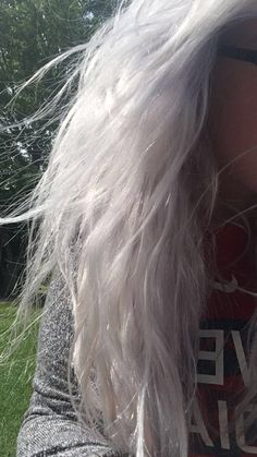 Manic panic ultra violet and Arctic fox sterling diluted with conditioner