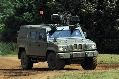 A Panther armoured command vehicle on display at the Defence Vehicle Dynamics (DVD) Exhibition in Salisbury, Wiltshire in 2008.