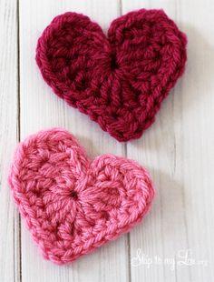 HAPPY Holidays: Handmade Gift Idea: Crochet Heart Coffee Cozy! -- Tatertots and Jello