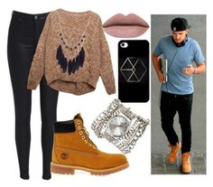 """""""Day with Liam 😍"""" by direction-of-the-summer ❤ liked on Polyvore featuring Sara Designs, Relaxfeel and Timberland"""