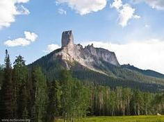 Chimney Rock CO; now a National Monument, thanks to the efforts/hard work of the National Trust for Historic Preservation.