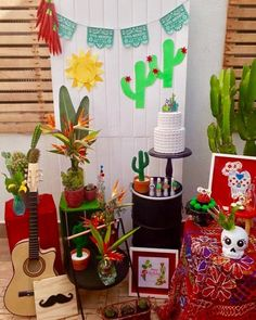 Halloween, Cactus, Planter Pots, Mexico, Baby Shower, Birthday, Party, Mole, Decoration