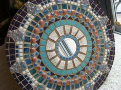 "18"" ROUND.  Southwest Mosaic Mirror by memoriesinmosaics on Etsy"