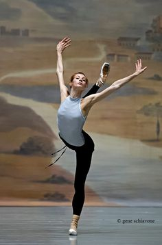Ekaterina Kondaurova (Mariinsky) in rehearsal. Photo by Gene Schiavone