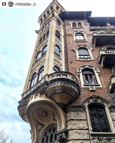 Palazzo stile Liberty #Torino Great Places, Beautiful Places, Best Of Italy, Turin Italy, Regions Of Italy, Shopping Street, Dream Vacations, Architecture Details, Italy Travel