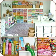 Let It Shine Design: Fabulous Sewing Spaces... A Girl Can Dream Right?
