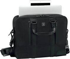 Victorinox Lexicon Professional LaSalle Slimline Laptop Brief Victorinox Swiss Army, Travel Accessories, Laptop Cases, Shoe Bag, Leather, Bags, Stuff To Buy, Shopping, Shoes
