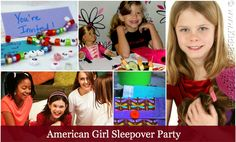American Girl Sleepover Party Ideas | KidsParties123.com