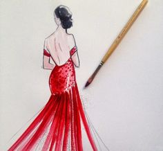 Beautiful+Watercolor+Prom+Dress+Illustration+by+Janette+Getrost+06.jpg (440×407)