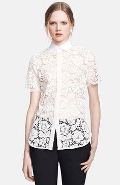 $1,650, Lace Blouse by Valentino. Sold by Nordstrom. Click for more info: http://lookastic.com/women/shop_items/74029/redirect