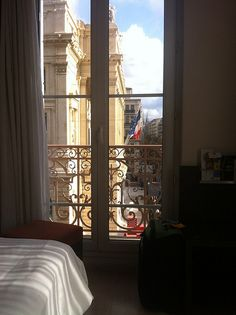 Room With A View. View from Room 307 at Oceania Hotel in Marseille.