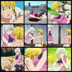 Meliodas and Elizabeth Elizabeth Seven Deadly Sins, Seven Deadly Sins Anime, 7 Deadly Sins, Otaku Anime, Manga Anime, Sir Meliodas, Ladybugs Movie, Meliodas And Elizabeth, 7 Sins
