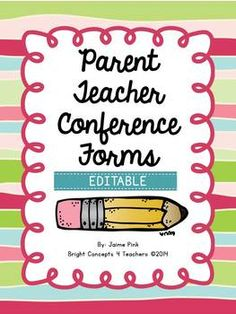 All the forms you need to create a Parent-Teacher Conference binder to make conferences a breeze {EDITABLE} $