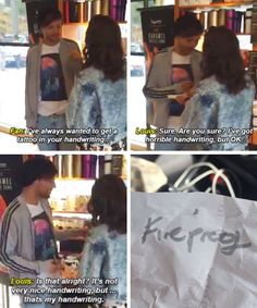 OMG! Louis ! I need your handwriting too ! You such a sweet guy !❤️