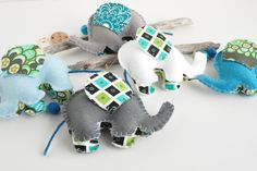 Elephant Mobile, Baby Mobile, incorperate the colors of the room into the ears
