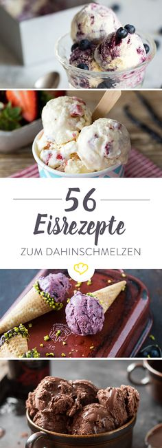 Mit und ohne Eismaschine – die 56 leckersten Eisrezepte With or without ice maker – making ice yourself is child's play. From chocolate to avocado to apple cinnamon – the 56 best ice cream recipes. Tasty Ice Cream, Homemade Ice Cream, Ice Cream Recipes, Baby Food Recipes, Sweet Recipes, Cake Recipes, Dessert Recipes, Pasta Recipes, Frozen Yoghurt