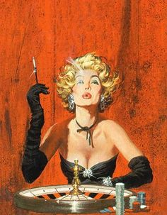Robert McGinnis Robert McGinnis (born in 1926) illustrated hundreds of paperback book covers beginning in the late 1950's. Most often identified with crime novels, McGinnis also produced movie posters for Breakfast at Tiffany's, Barbarella, and several James Bond movies.