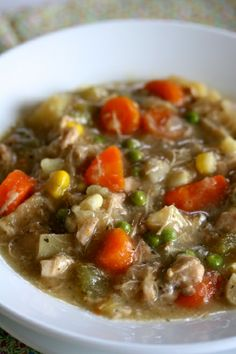 Slow Cooker Chicken Stew  ~  Perfect for colder night!