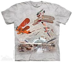 Boeing Aviation Hangar Smithsonian T-Shirt by The Mountain. We have many other Mountain shirts for sale! Vintage London, Ink Color, Cotton Tee, White Cotton, Cool T Shirts, Aviation, Classic T Shirts, Tees, Prints