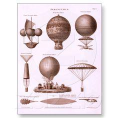 Vintage hot air balloon designs