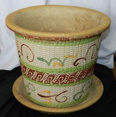 Vntg1930's  RRP Roseville Pottery #412-11 Lg Southwestern Planter/w Underplate $95.00 OBO + $32.50 Shipping