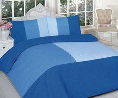 This excellent high-quality Suede Patch Blue D esign Duvet C over is perfect for any bed. 1 x Duvet Cover: 137 x 200 cm Approx. 1 x Duvet Cover: 200 x 200 cm Approx. 1 x Duvet Cover: 220 x 230 cm Approx. Blue Duvet, Green Bedding, Pink Bedding, Luxury Bedding Sets, Duvet Bedding, White Bedding, King Size Bedding Sets, Duvet Sets, Duvet Cover Sets