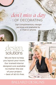 Whether you're trying to make a big statement in a small space or decorating an entire home, our Design Solutions experts are here to help. Get free interior designer advice and ideas from Ballard Designs. Interior Decorating Tips, Furniture Placement, Beautiful Interior Design, Ballard Designs, Home Office Design, Love Design, Design Consultant, Beautiful Space, Design Process
