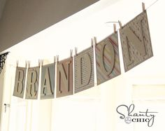 Easy DIY Pennant Banner for Baby Showers and Parties!