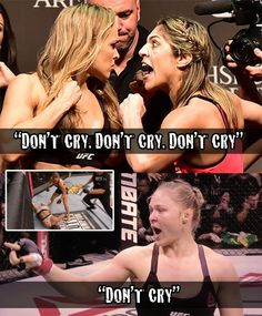 """Ronda Rousey: """"Don't cry"""""""