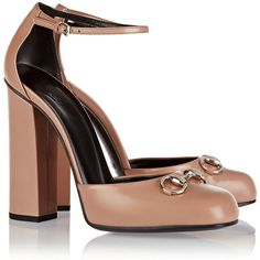Gucci Horsebit-detailed leather Mary Jane pumps (50.905 RUB) via Polyvore featuring shoes, pumps, leather shoes, high heel shoes, strap pumps, maryjane pumps и mary jane shoes