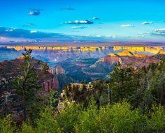 Amazing view of Grand Canyon North Rim in Utah